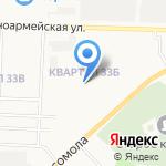Средняя общеобразовательная школа №18 на карте Дзержинска