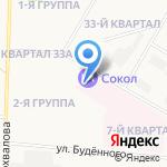 Застава на карте Дзержинска