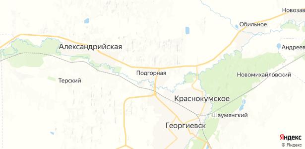 Подгорная на карте