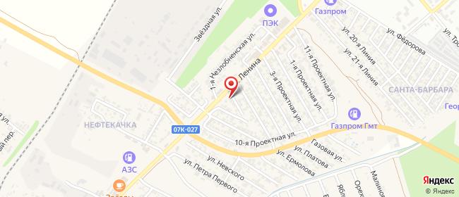 Карта расположения пункта доставки Пункт Выдачи в городе Незлобная