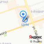 Гамма на карте Дзержинска