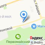 Школа №9 на карте Дзержинска