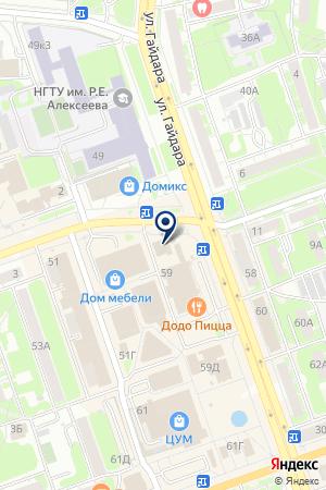 ТК ИНВЕСТ на карте Дзержинска