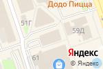Схема проезда до компании Спортсмен в Дзержинске