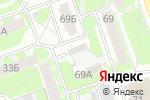Схема проезда до компании Строительный крепеж в Дзержинске