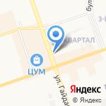Спутник на карте Дзержинска