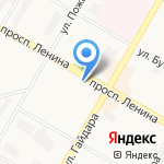 Матрешка на карте Дзержинска