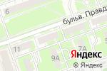 Схема проезда до компании Орхидея в Дзержинске