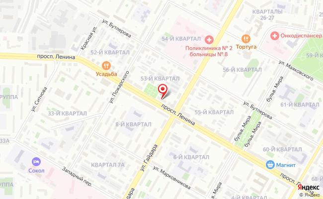 Карта расположения пункта доставки RoutExpress в городе Дзержинск
