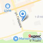 ПЕНТА на карте Дзержинска