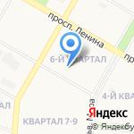 Средняя общеобразовательная школа №24 на карте Дзержинска