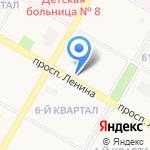 Шпилька на карте Дзержинска