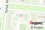 Схема проезда до компании Палитра туров в Дзержинске