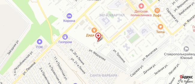 Карта расположения пункта доставки СИТИЛИНК в городе Георгиевск