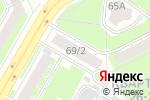 Схема проезда до компании Формула Комфорта в Дзержинске
