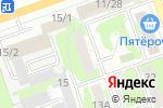 Схема проезда до компании Центральная в Дзержинске