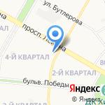 Вертикаль на карте Дзержинска
