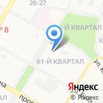 Средняя общеобразовательная школа №40 на карте Дзержинска