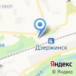 Минутка на карте Дзержинска