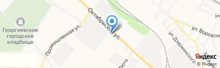 АЗС Прогресс на карте Георгиевска
