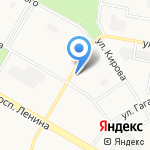 Теплый дом на карте Дзержинска