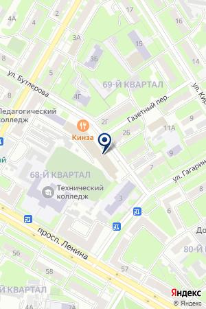 ДОПОЛНИТЕЛЬНЫЙ ОФИС ВОКБАНК на карте Дзержинска