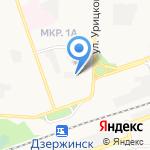 Симплекс на карте Дзержинска
