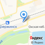 Канат на карте Дзержинска