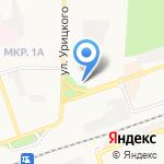 Акцент на карте Дзержинска