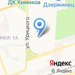 Гражданская защита на карте Дзержинска