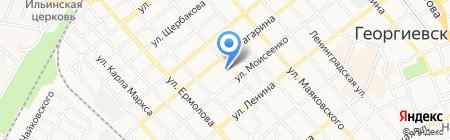 Баня на карте Георгиевска