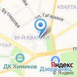 Дружба на карте Дзержинска