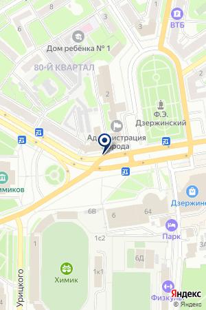 ДЗЕРЖИНСКИЙ ФИЛИАЛ КАРЛОС на карте Нижнего Новгорода