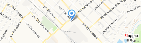 АЗС Лукойл-Югнефтепродукт на карте Георгиевска