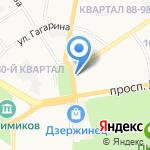 Участок по доставке пенсий и пособий на карте Дзержинска