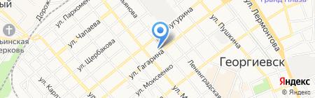 Детский сад №3 Огонёк на карте Георгиевска
