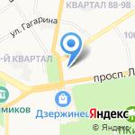 Банк Уралсиб на карте Дзержинска