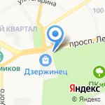 Киоск фастфудной продукции и шашлыка на карте Дзержинска