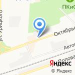 Магазин рыбной продукции на карте Дзержинска