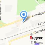 Магазин домашнего текстиля на карте Дзержинска