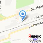 Центральный на карте Дзержинска
