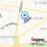 Детский сад №56 компенсирующего вида на карте Дзержинска