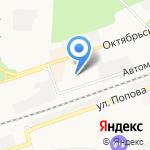 Магазин по продаже мяса на карте Дзержинска