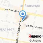 Мозаика на карте Дзержинска