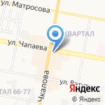 Киоск фастфудной продукции на карте Дзержинска