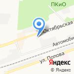 Некрополь на карте Дзержинска