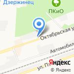 Троя на карте Дзержинска