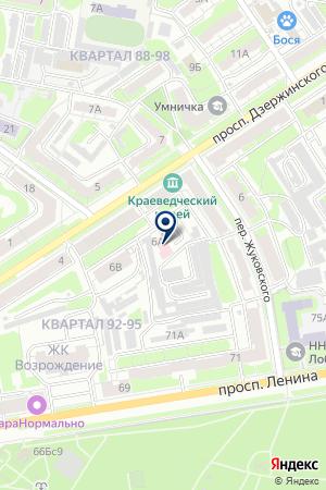 ТИПОГРАФИЯ КОНКОРД на карте Дзержинска