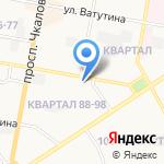 Магазин продуктов на карте Дзержинска