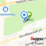 Городской парк на карте Дзержинска